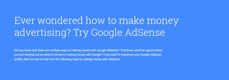 Making Money with Google Adsense