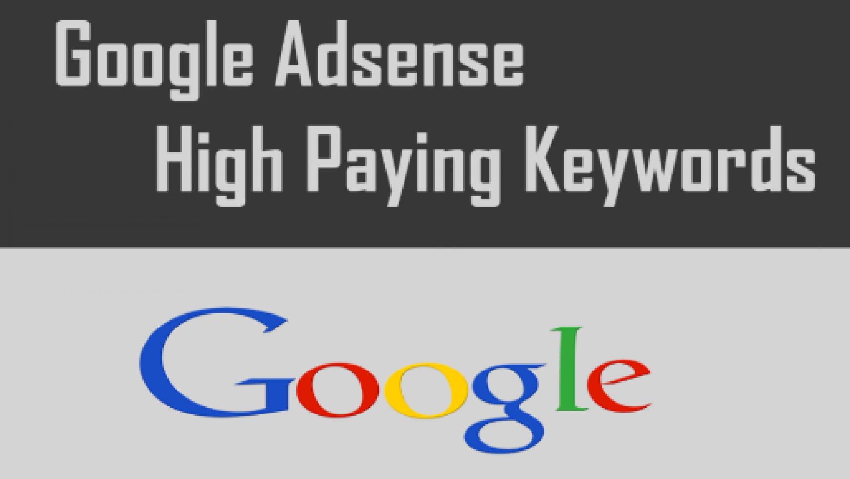 Top Paying Adsense Keywords List